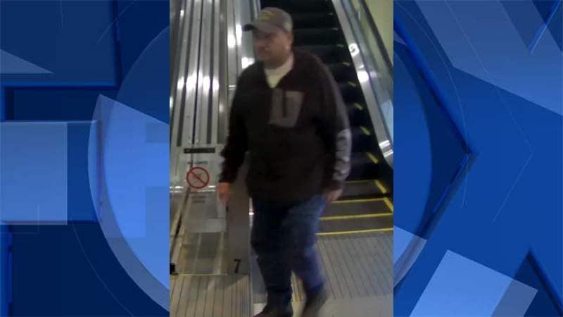 Surveillance image of wanted suspect. (Portland Police Bureau)