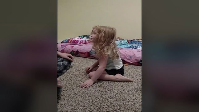 Video shows OR girl struggling to stand after partial tick paralysis