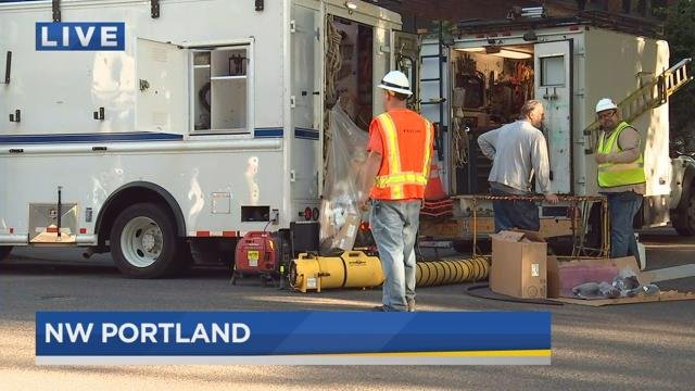 Utility fire cuts power to thousands in downtown Portland