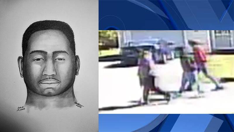 Suspect sketch, surveillance image released by Portland Police Bureau and Crime Stoppers of Oregon.