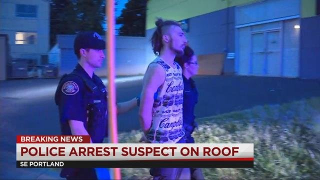 Suspected car thief climbs roof to get away from police in SE Portland