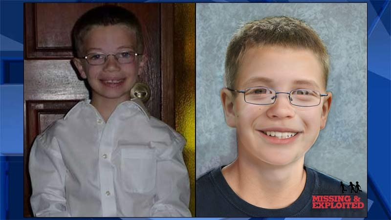 Kyron Horman (family photo, left), age progression image of Kyron released by National Center for Missing & Exploited Children on May 25, 2017.