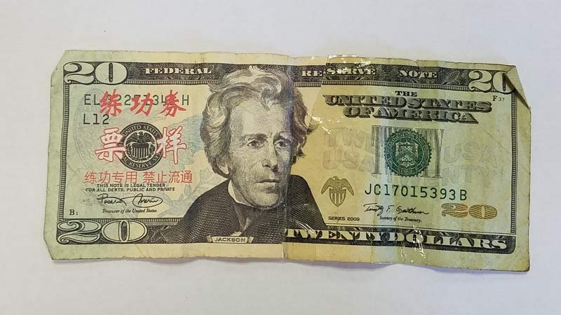 Counterfeit $20 bill. (Photo: Klamath County Sheriff's Office)