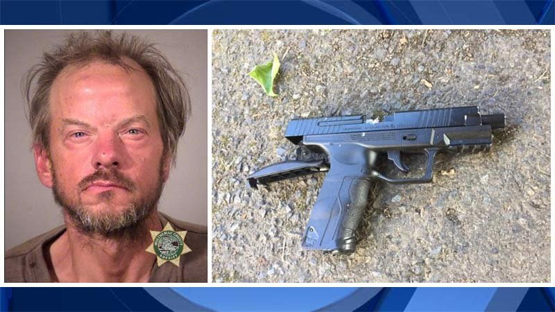 Michael Ervin Grubbe and BB gun recovered near scene of officer-involved shooting in northeast Portland. (Images released by Portland Police Bureau)