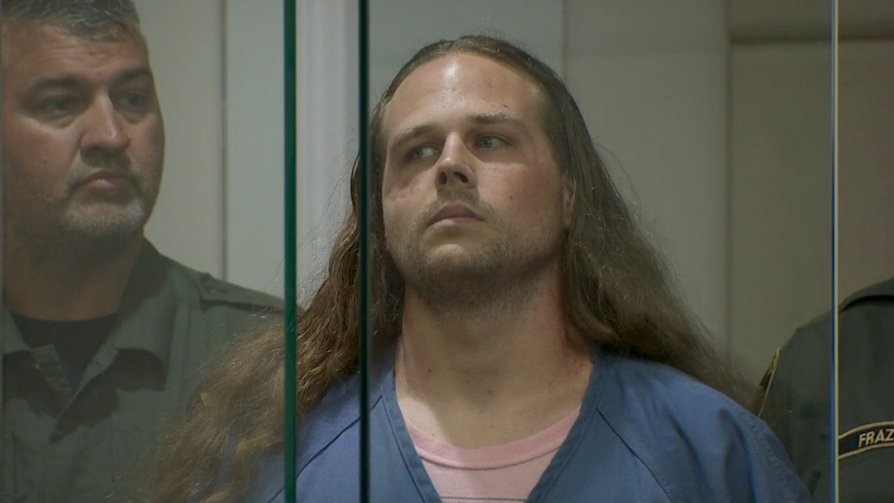 Jeremy Christian in court Tuesday. (KPTV)