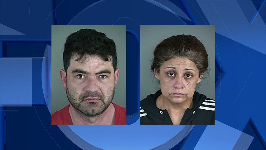 Rogelio Conrique-Villalpando and Matilde Conrique-Sepulveda, jail booking photo.