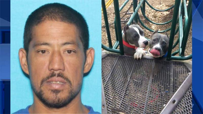 Jossa Kahakumele Analu Manners and his two dogs. (Photos released by Molalla Police Department)