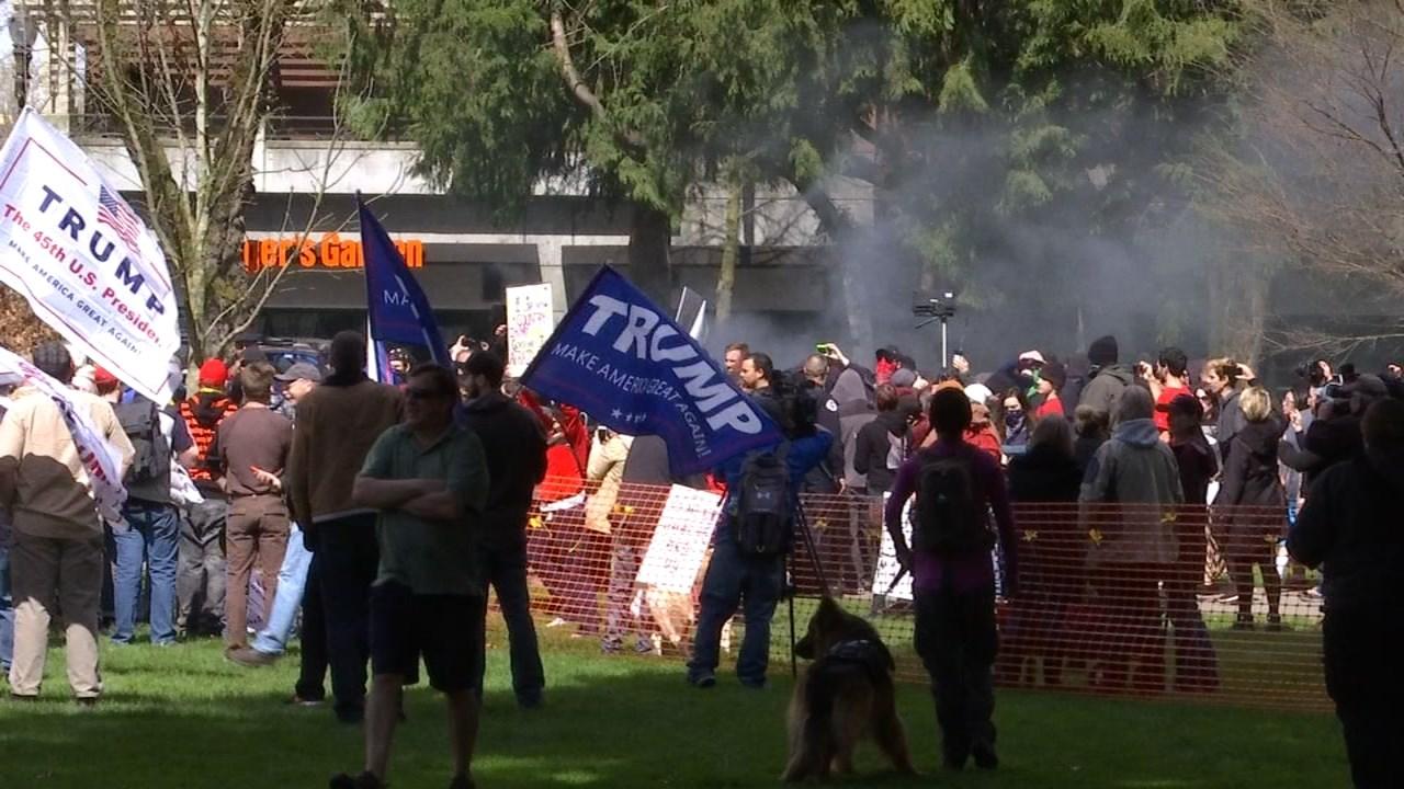 Rally in Vancouver in April (KPTV file image)
