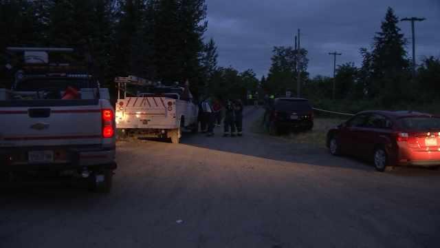 Deadly crash scene involving a car and an Amtrak train near Hubbard. (KPTV)