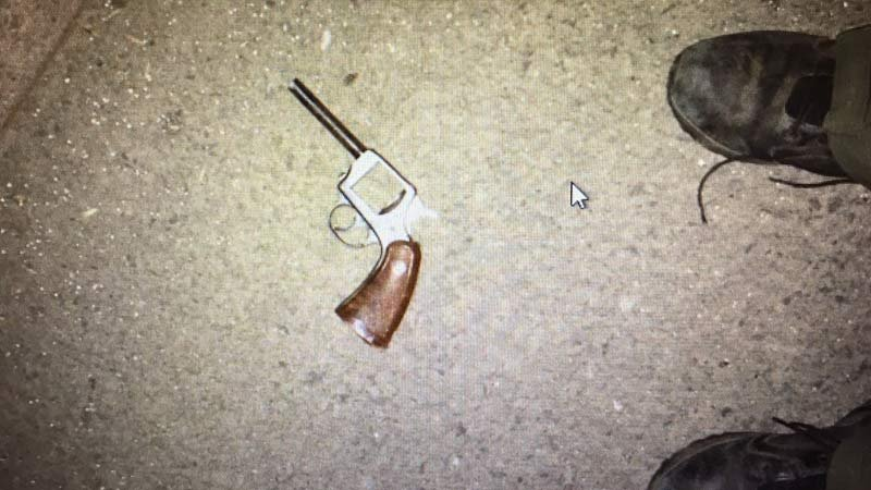 Pistol found after chase on Highway 224. (Image: Clackamas County Sheriff's Office)