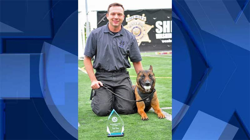 Hillsboro Officer Matt Schmidt and his K-9 partner Blazer (Photo: Hillsboro Police Department)