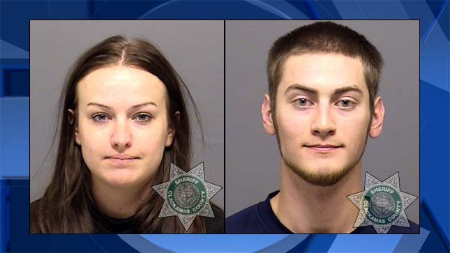 Sarah Elaine Mitchell, Travis Lee Mitchell, jail booking photos