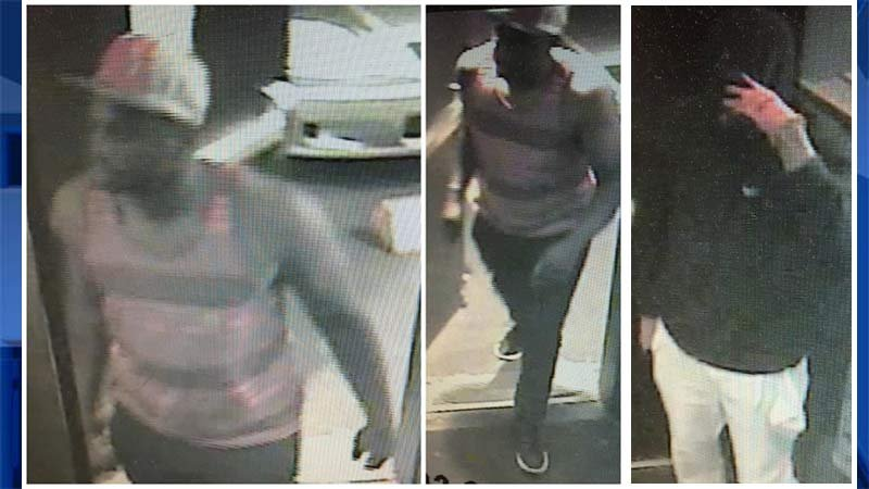 Lotsa Luck Bar & Grill robbery suspects. (Surveillance released by Portland Police Bureau)