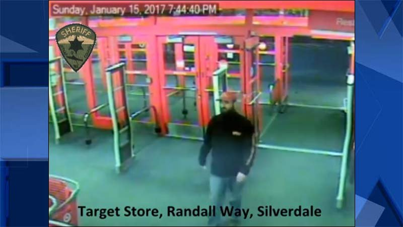 Surveillance image of person of interest in Kitsap County homicide investigation of four family members killed in January. (Image: Kitsap County Sheriff's Office)