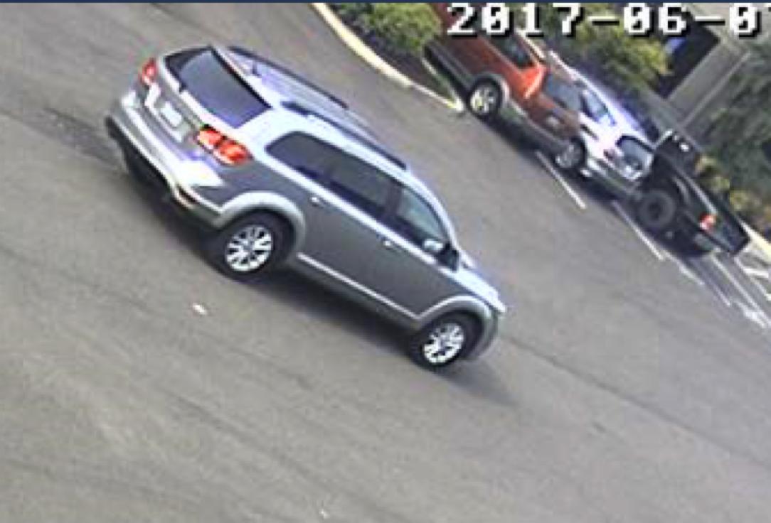 June 7 surveillance image of suspect vehicle (photo courtesy FBI)