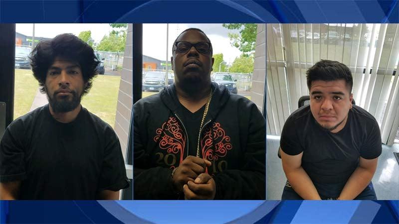 Cesar Martinez, Jayson J. McKinley, Jose E. Pineda (Photos: Oregon State Police)