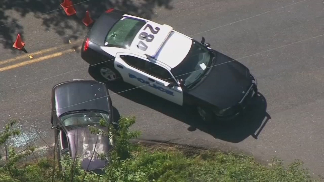 Officer-involved shooting scene in Vancouver. (KPTV/Air 12)