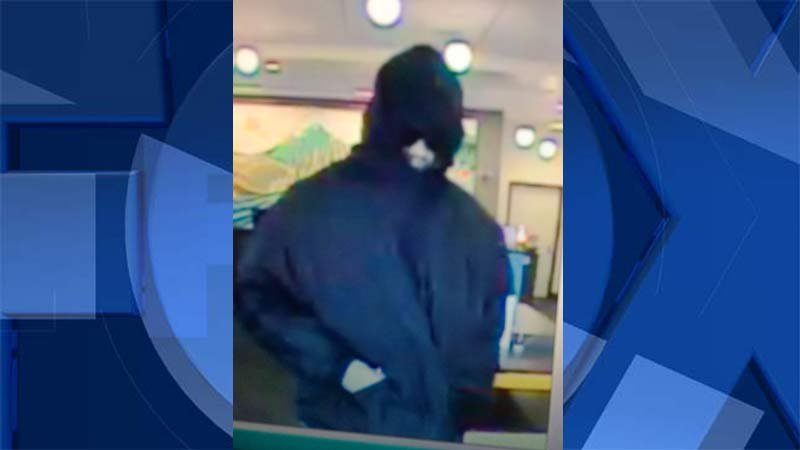 Surveillance photo of bank robbery suspect released by Washington County Sheriff's Office.