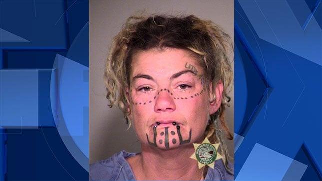 Sarah Pugh, jail booking photo