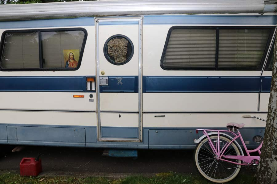 Motor home where deputies said a woman was kidnapped and assaulted. (Photo: Clackamas County Sheriff's Office)