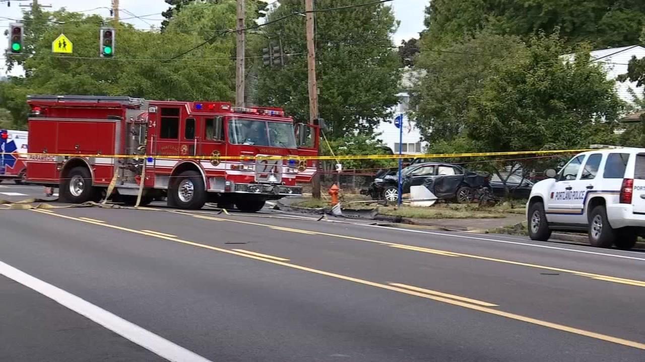 Deadly crash scene in north Portland in July 2016. (KPTV)