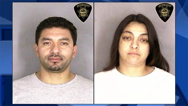 Juan Robert Garza, Eva Villarreal (Jail booking photos)