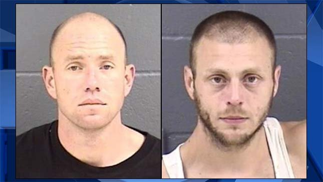 Chad Thomas, Toby Latour (Jail booking photo)