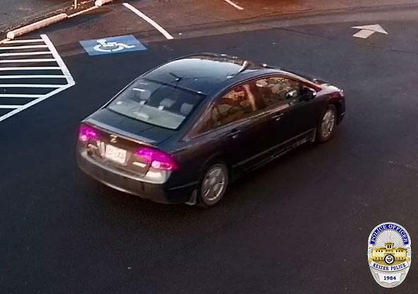 Car believed to be associated with Keizer armed robbery suspect. (Keizer Police Department)