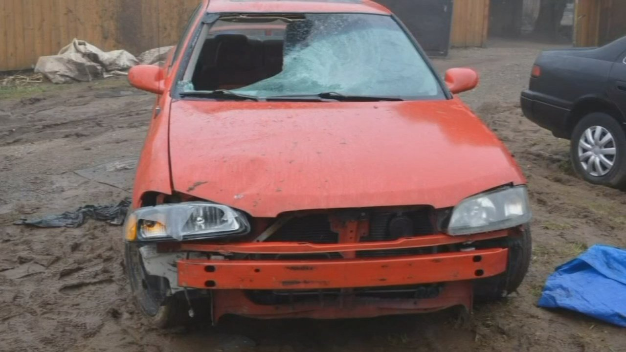 Car involved in hit-and-run crash in Vancouver in February. (Clark County Sheriff's Office)