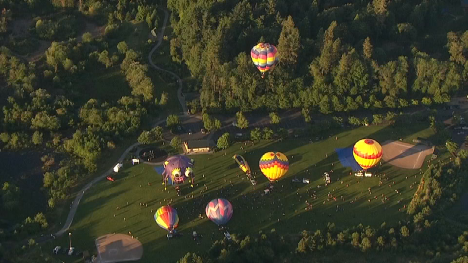 View of festival from AIR 12 Friday morning