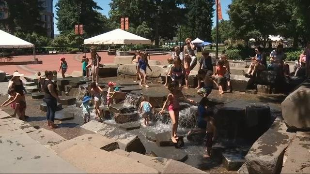 People find ways to stay cool as heat wave hits Portland