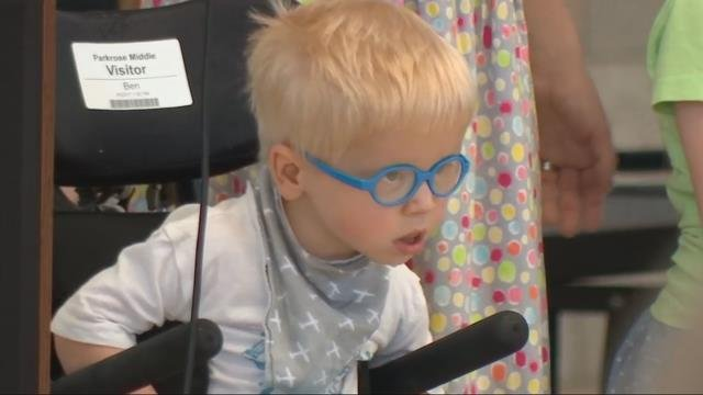 Parkrose MS students raise $14,000 for 2-year-old 'Sparrow' child