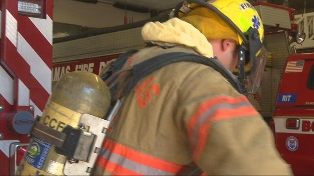 Firefighters work to stay safe during hot weather weekend