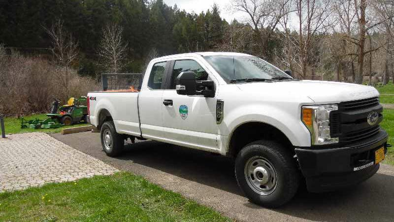 Stolen Oregon Parks and Recreation truck (Photo: Oregon State Police)