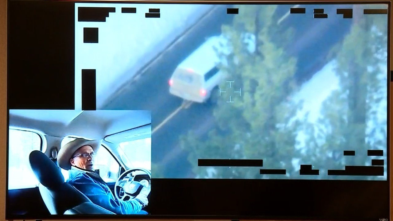 Video released in March 2016 shows LaVoy Finicum in his truck talking to law enforcement officers on Highway 395 before he was shot and killed. (KPTV)