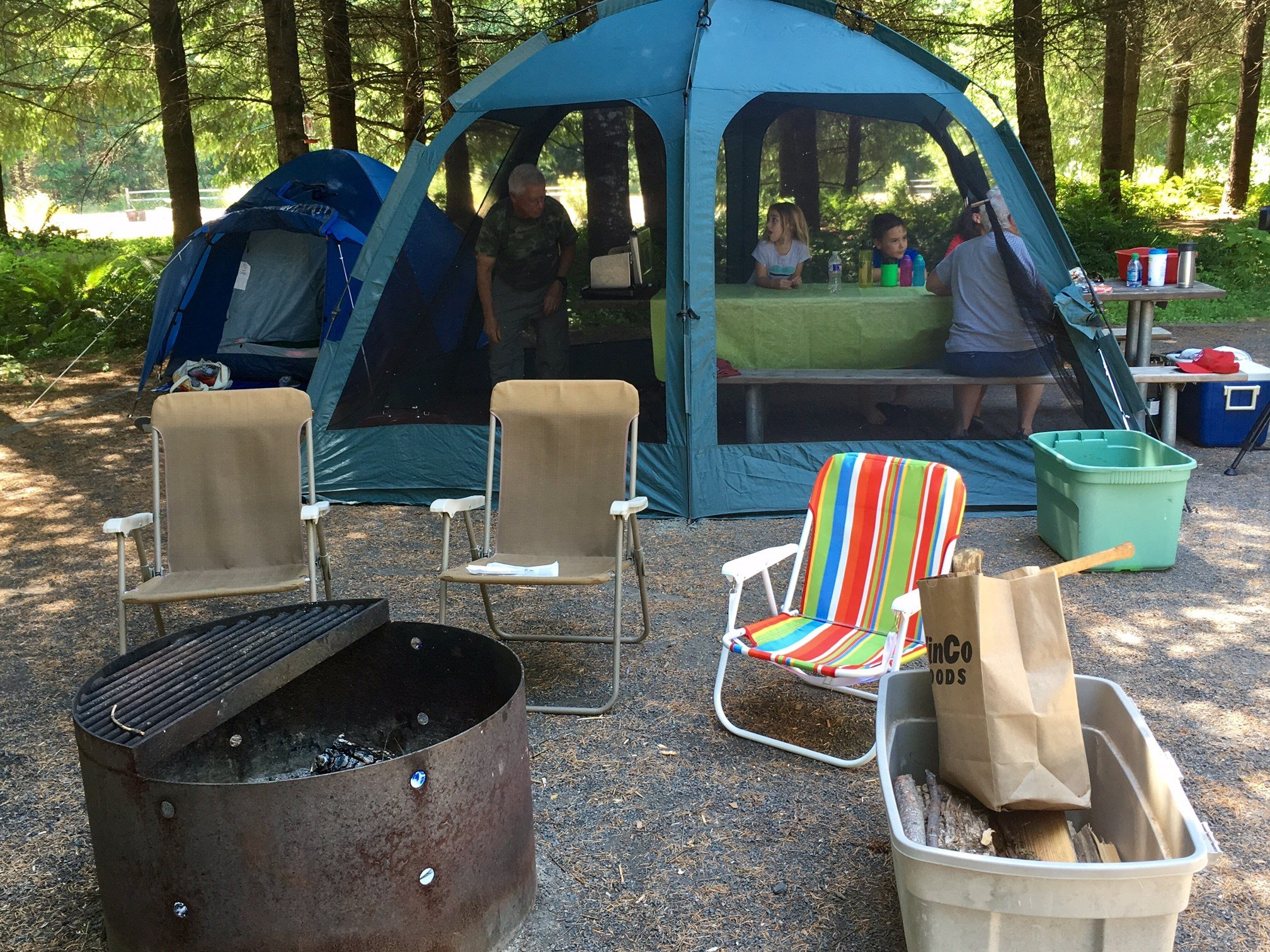 Campers at Stub Stewart State Park Friday.