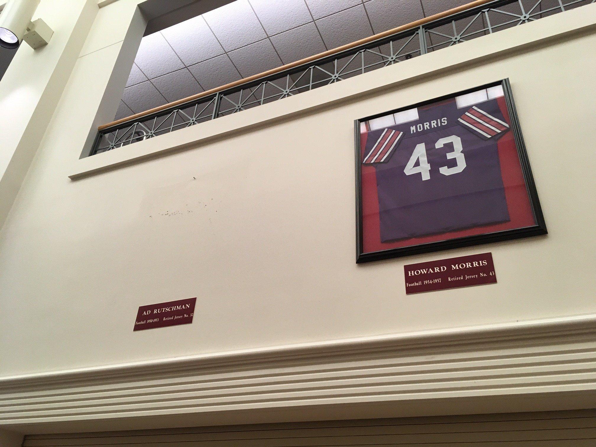 The empty spot where Rutschman's retired jersey hung.