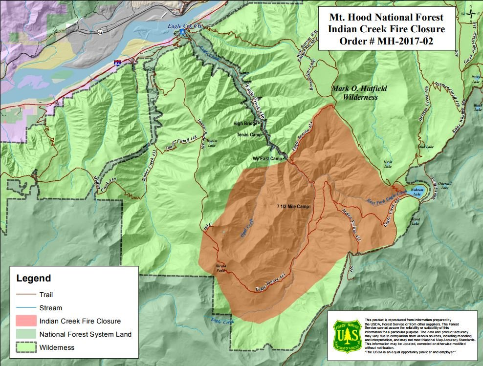 Small Wildfire Closes Section Of Eagle Creek Trail In