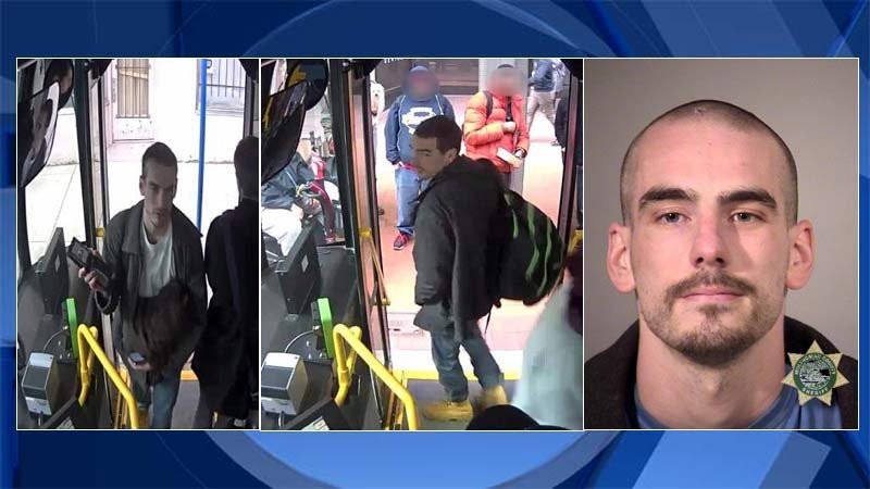 Surveillance images and most recent jail booking photo of Jared Weston Walter (Photos: Portland Police Bureau/KPTV)