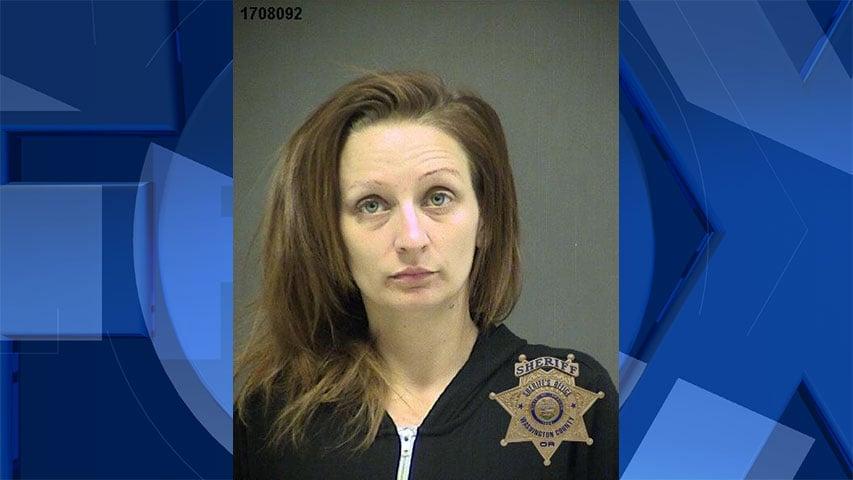 Courtney Freymuller, jail booking photo (Washington County Sheriff's Office)