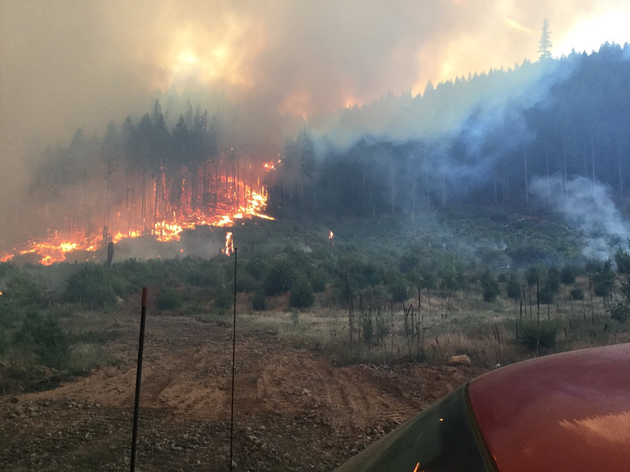 The Dry Creek Fire, courtesy of the Washington Department of Natural Resources.
