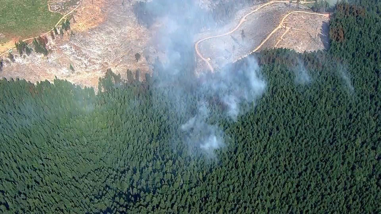 Dry Creek Fire (KPTV/Air 12)