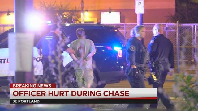 Driver rams PPB patrol cars in SE Portland, one officer injured