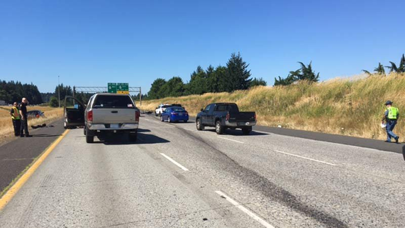 One lane open on northbound Interstate 25 near Monument