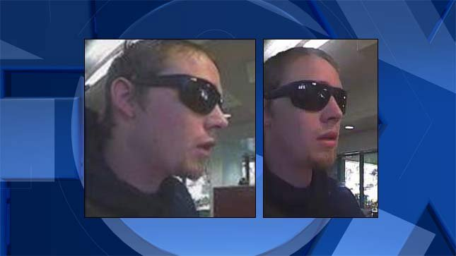 Surveillance images of Canby bank robbery suspect. (Canby PD/KPTV)