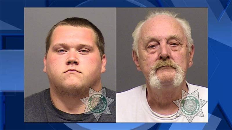 Troy L. Kirk Jr., William A. Kirk Sr., jail booking photos