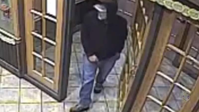 Surveillance image of Applebee's attempted robbery suspect (Tualatin Police Department)