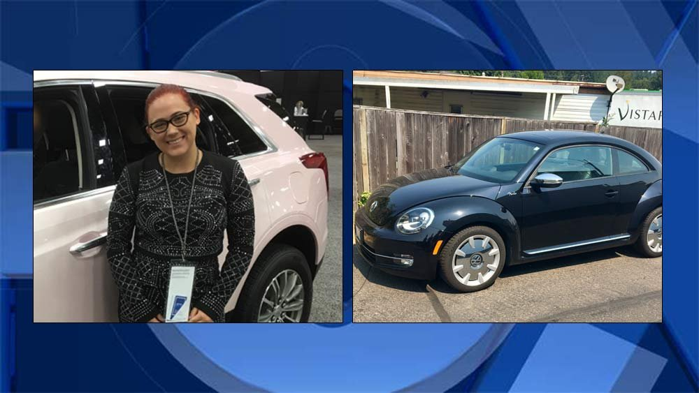 Demi Helenius and her car that was found in Cottage Grove (Photos: Washington County Sheriff's Office)