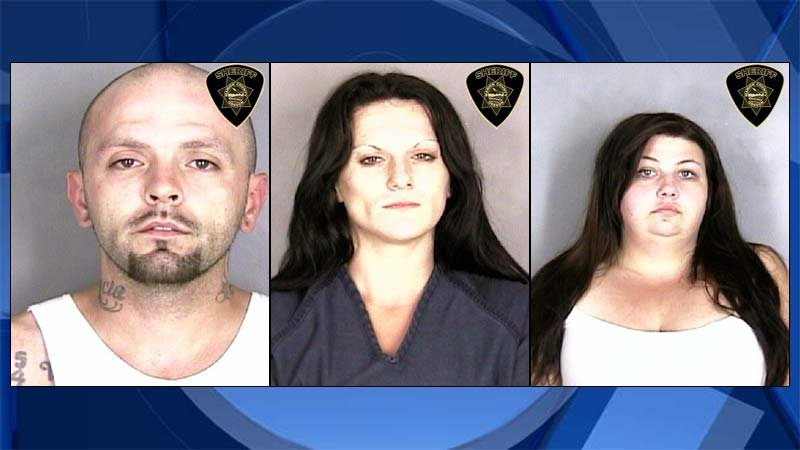 Russell Taylor, Angel Rogers, Amanda Brown (Jail booking photos)