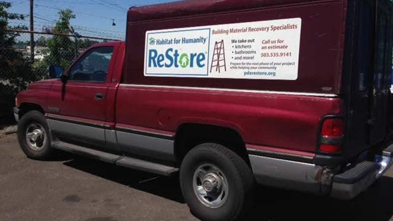Stolen Habitat for Humanity truck.